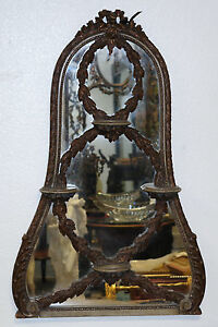 Venetian Italian Carved Wood Mirror W Shelves Late 19th E 20th Century