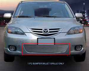 Lower Bumper Billet Grille Grill For 2004 2006 Mazda 3 Sport Hatchback