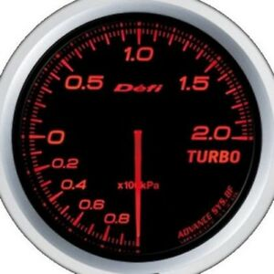 Defi Advance Gauge Bf 60 Turbo 200kpa Red