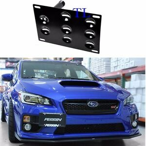 Front Bumper Tow Hook License Plate Bracket For Subaru Wrx Sti Forester Impreza