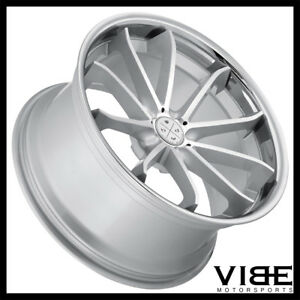 22 Blaque Diamond Bd23 Silver Concave Wheels Rims Fits Chrysler 300