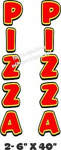 Pizza Vertical Decal 40 X 6 Each Cart Concession Trailer Food Truck