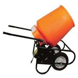 Electric Portable Concrete Mixer 3 5 Cubic Foot Drum