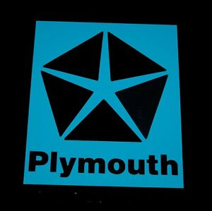 Plymouth Car Logo Vinyl Decal Sticker 61042z