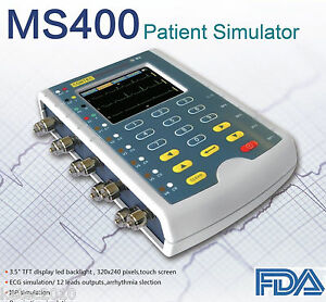 Us Stock Contec Ms400 Portable Multi parameter Patient Simulator Ecg Simulator