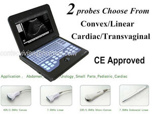 Contec Portable Ultrasound Scanner Laptop Machine 2 Probe Cms600p2 Convex linear