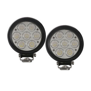 2x Cree 6inch 70w Euro Flood Led Round Work Head Light Fog Lamp Offroad 4x4 Atv