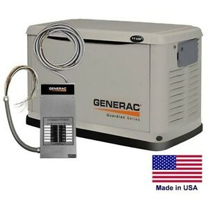 Standby Generator Residential 11 Kw Ng Lp Incl 12 Cir Transfer Switch