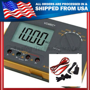 Vc480c 3 1 2 Multimeter Digital Milliohmmeter new Accuracy With 4 Wire Test