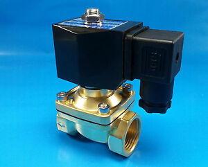 1 Npt 110 120vac Electric N c Brass Solenoid Valve Air Water Vacuum Diesel Nbr