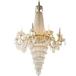 French Empire Style Crystal Chandelier 101 7483