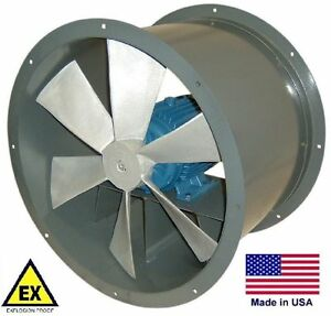 Tube Axial Duct Fan Explosion Proof Direct Drive 36 230 460v 18 500 Cfm