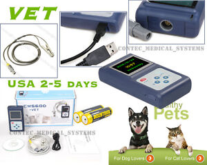 Usa cms60d Veterinary Pulse Oximeter Spo2 Pr Tongue Clip Probe For Pets battery