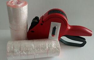 Meto 6 Digit Price Labeler Sellout Box Fl Red Labels Ink Roller