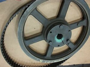 Poly Chain Sprocket Pulley 72xr200 21 dia x2 5 Wide 1 625 Dia Hole 3 8 Key