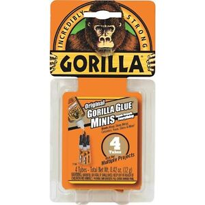 6 Pack Gorilla Glue Minis Strongest Glue adhesive In The Jungle