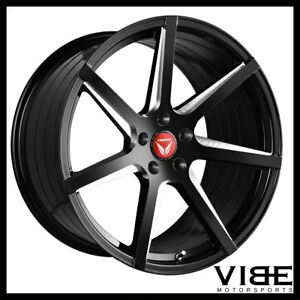 20 Vertini Wing 7 Black Concave Wheels Rims Fits Benz W211 E350 E500 E55 E63
