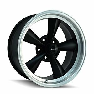 Ridler Style 675 Matte Black Wheel With Machined Lip 17x8 5x114 3mm