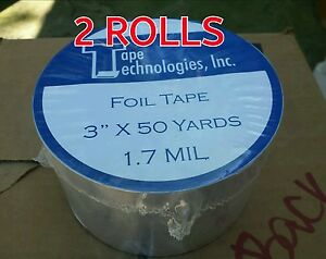 2 Rolls Hvac Self adhesive Tape Foil Tape 3 X 1 7 Mil X 150 Ft Each