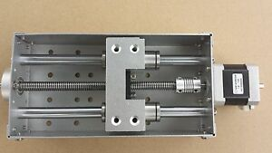 Ballscrew Anti backlash Cnc Z axis Slide Assembly For Diy Cnc With Stepper Motor