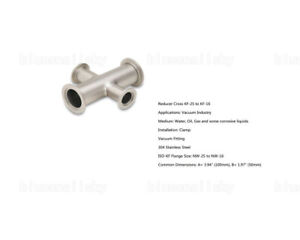 Us Sale Reducer Crosses 304 Stainless Steel Adapter Vacuum Kf 25 To Kf 16 4 way