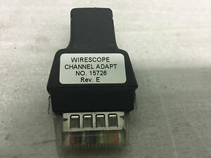 Agilent Wirescope155 350 Channel Adapter Used To Test And Certify Cat5e Cable