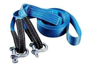 2 20ft Heavy Duty Tow Strap 20000 Lb Capacity D Ring Hook