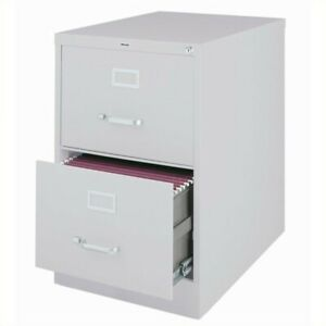 Hirsh 25 In Deep 2 Drawer Vertical Legal File Cabinet In Gray