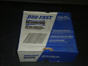 Duo Fast Full Round Head Collated Framing Nails 2 3 8 X 113 Case Of 3000 Sl8