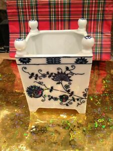 Antique Blue White Japanese Rare Brush Pot Estate Find Perfect