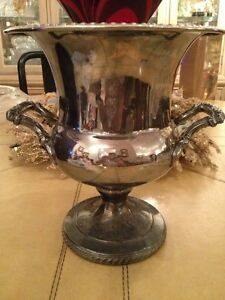 Rare Georgian Period English Silver Plated Wine Cooler Champagne Bucket