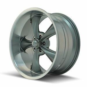 Ridler Style 695 695 Grey Wheel With Machined Lip 18x8 5x120 65mm