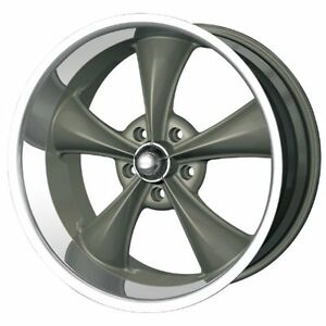 Ridler Style 695 695 Grey Wheel With Machined Lip 18x9 5 5x120 65mm