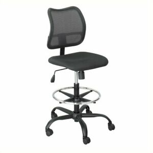 Pemberly Row Extended Height Mesh Drafting Chair In Black