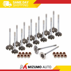 Intake Exhaust Valves W Seals Fit Toyota 4runner Tacoma 2 7l 3rzfe