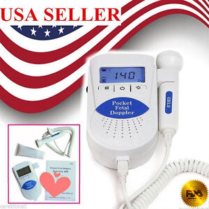 Fda Pocket Fetal Doppler Baby Heart Beat Prenatal Heart Rate Monitor gel Us Ship