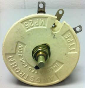 Angstrohm Rheostat 5 Ohm 100 Watt Part Mp25 New