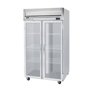 Beverage Air Hrp2hc 1g Glass Door Two section Reach in Refrigerator