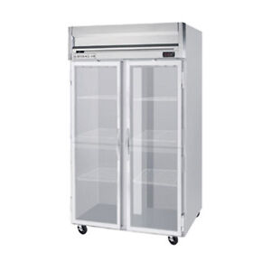 Beverage Air Hf2hc 1g Glass Door Two section Reach in Freezer
