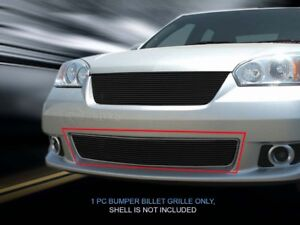 Black Billet Grille Grill Bumper For Chevy Chevrolet Malibu 2006 2007