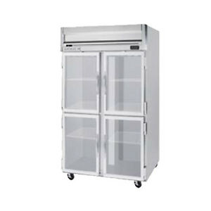 Beverage Air Hrps2hc 1hg Half Glass Door Two section Reach in Refrigerator