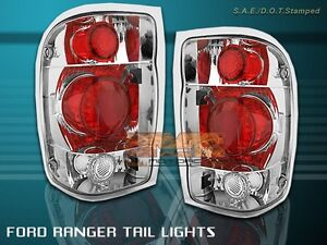 1998 2000 Ford Ranger Euro Tail Lights Chrome 1999 2000