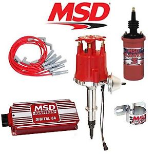 Msd 90091 Ignition Kit Digital 6a Distributor Wires Coil Jeep 4 2l Inline 6