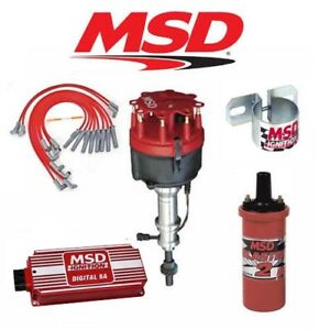 Msd 90151 Ignition Kit Digital 6a distributor wires coil bracket Ford 351w