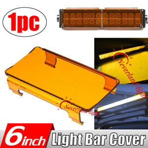 1x 6 Snap On Amber Led Work Light Bar Lens Cover Offroad 50 52 42 32 22