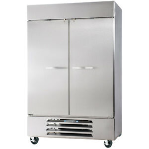 Beverage Air Hbr44hc 1 s Solid Door Two Section Reach in Refrigerator