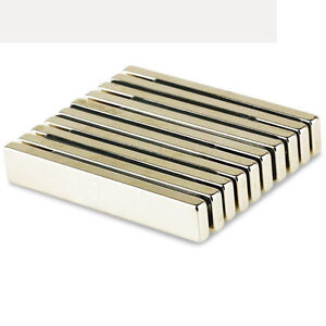 Strong Rare Earth Neodymium N52 Neo Fridge Bar Block Magnet Strip 60 X 10 X 4 Mm