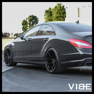 20 Vertini Rf1 2 Gloss Black Concave Wheels Rims Fits Benz W218 Cls550 Cls63