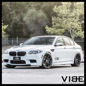 20 Vertini Rf1 2 Forged Black Concave Wheels Rims Fits Bmw F10 M5