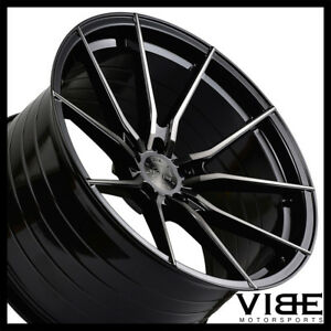 20 Vertini Rf1 2 Forged 20x9 Black Concave Wheels Rims Fits Audi B8 A4 S4